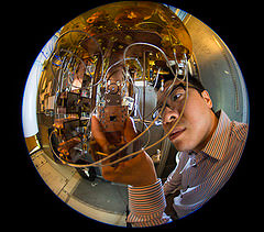 Jerry Chow in the IBM quantum computing lab