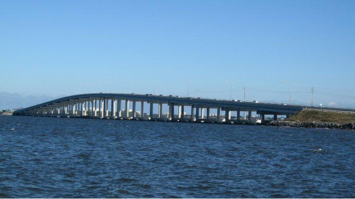 Eau Gallie Causeway, Melbourne, Florida (C) Leonard J. DeFrancisci