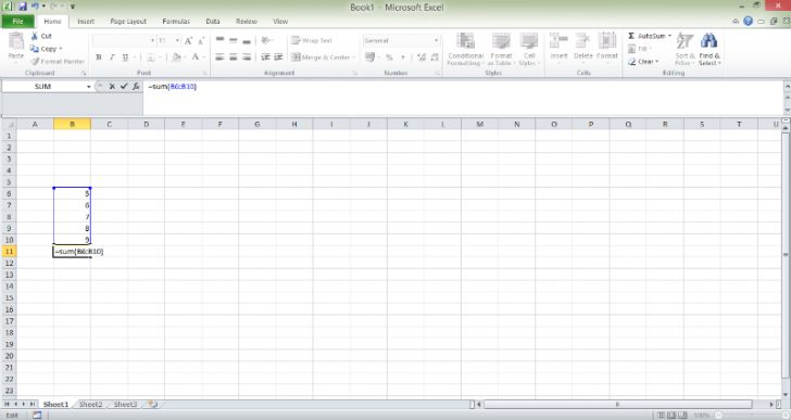 Tips - Excel Sum screen shot