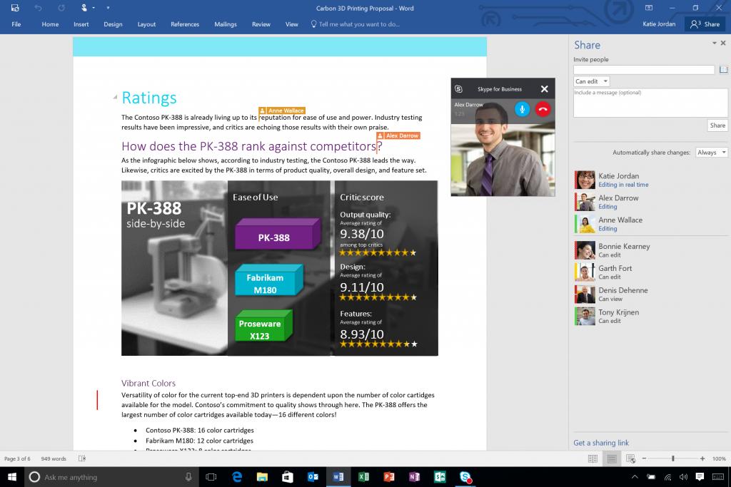 Microsoft Office 2016 Source Microsoft)