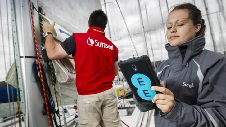 Sunsail use tablets to capture data and instantly share with Head office (Source Sunsail/EE)