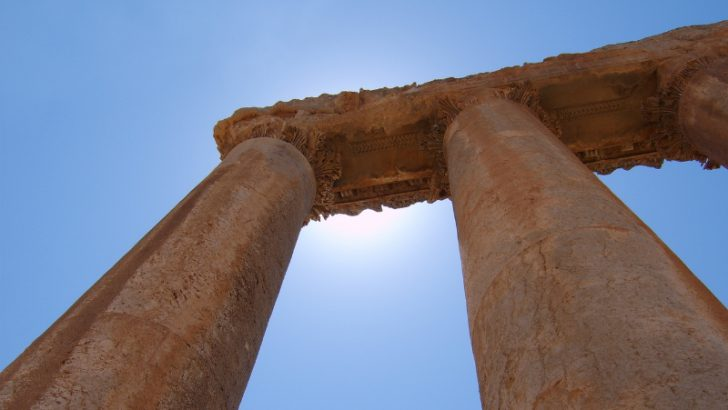 Separate Columns in Excel, (Columns at Ballbek - Lebanon) Image Credit Freeimages.com/Aristock