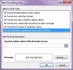formatting row 4