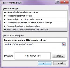 formatting row 5
