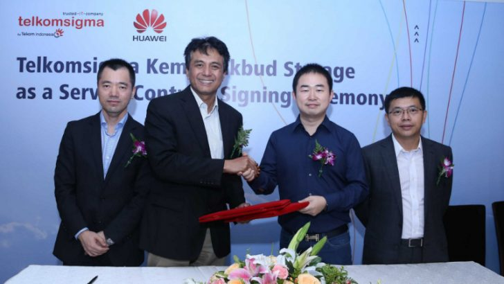 Telkomsigma and Huawei sign deal (Image Credit: Huawei via PRNewswire)