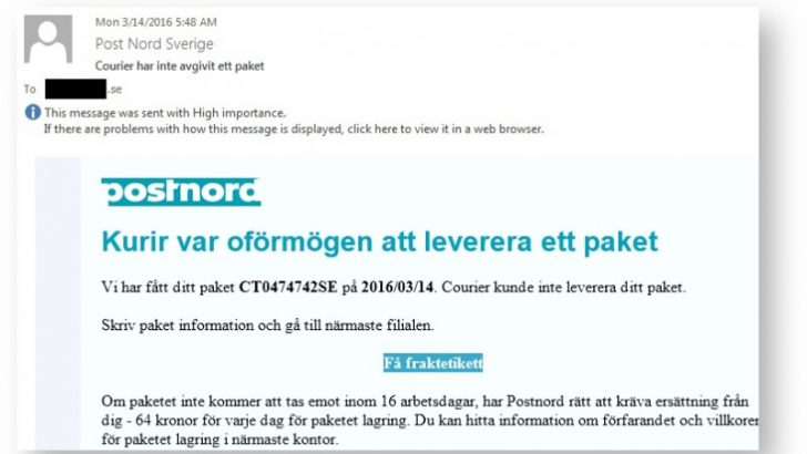 TorrentLocker returns targeting users in Sweden and Italy