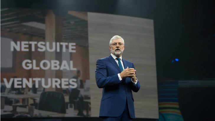 Zach Nelson announced NetSuite Global Ventures at NSW16 (Credit NetSuite)