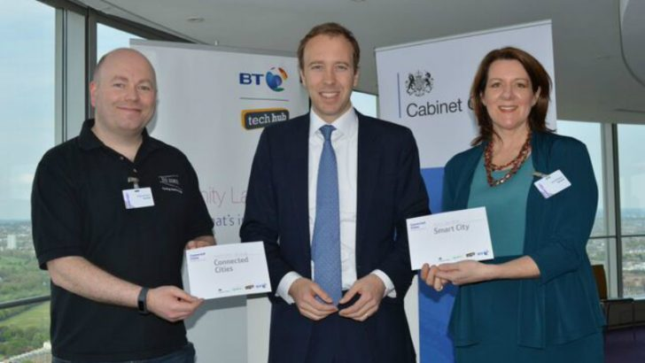 SEE.SENSE receive award from Matt Hancock, Minister for the Cabinet Office and Paymaster (Image Credit BT)