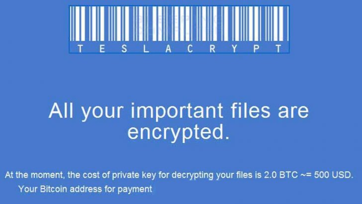 TeslaCrypt ransomware authors give up