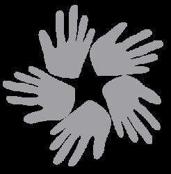 ReCept logo of five hands (Image Credit ReCept)