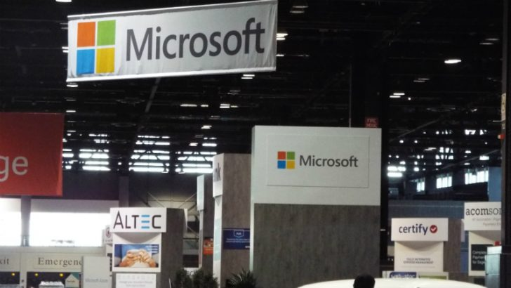 Microsoft at Sage Summit (Image Credit, Copyright S. Brooks 2016)