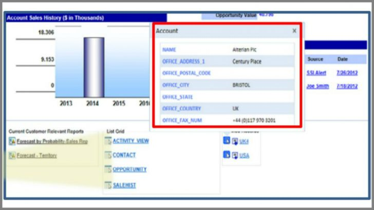 Screen shots from version 7 of Saratoga CRM (Source Aptean.com)