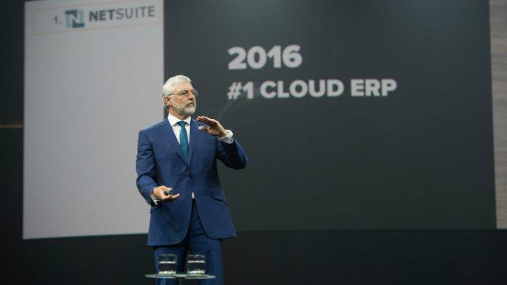 Zach Nelson at SuiteWorld 2016 (Image credit NetSuite - ©2016 Marc Fiorito - Gamma Nine Photography)