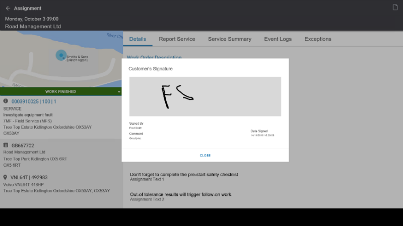 Screenshot from Infor MFS : Image credit Infor