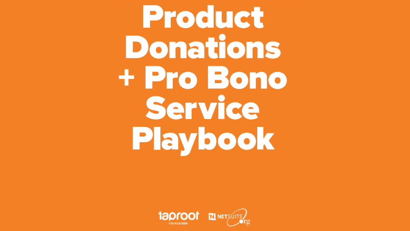 Probono Playbook / Image Credit NetSuite, Taproot Foundation)